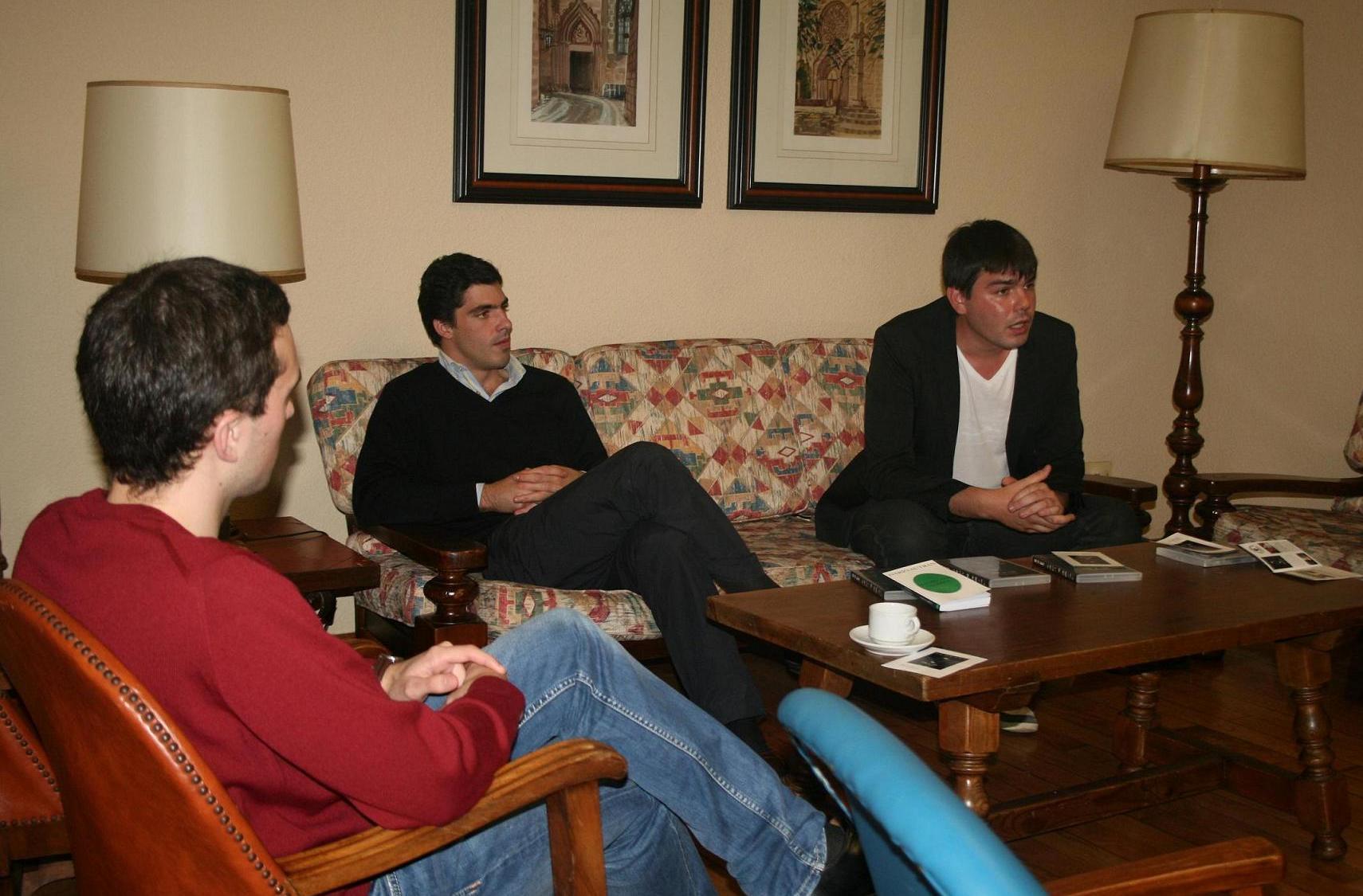 El joven actor y cineasta Darío Autrán, participó en una tertulia en el Colegio Mayor